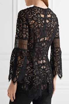 Black lace Zip fastening along back 44% nylon, 33% rayon, 23% cotton; lining: 100% polyester Dry clean