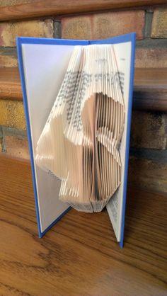 Folded Book Art - 'Treasure Island' Book folded into Squirrel Design