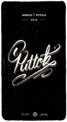 Typographic posters by Eron Mezza, via Behance
