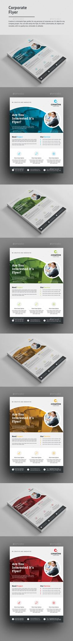 #creative #modern #Professional #Corporate #Flyer #template - #business Flyers #design. download: https://graphicriver.net/item/corporate-flyer/20283713?ref=yinkira