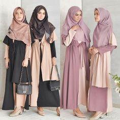 24 Trendy Ideas For Style Hijab Casual Kondangan Islamic Fashion, Muslim Fashion, Modest Fashion, Trendy Fashion, Boho Fashion, Girl Fashion, Fashion Outfits, Trendy Style, Casual Hijab Outfit