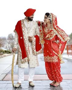 Lovely Couple Punjabi Wedding Suit, Punjabi Wedding Couple, Indian Wedding Couple Photography, Wedding Couple Photos, Sikh Wedding, Indian Wedding Outfits, Bridal Outfits, Wedding Couples, Punjabi Couple