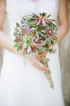 Eco-chic: hardy succulents are great choices for long lasting bouquets in hot, arid areas