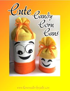 Cute Candy Corn Cans - Homemade by Jade Grow Your Own Food, Make Your Own, Learn To Sew, How To Make, Cute Candy, Tin Cans, Candy Corn, Own Home, Halloween Crafts