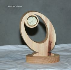 Desk Clock Modern Design Home or Office Decor by WoodNCreations, $25.00