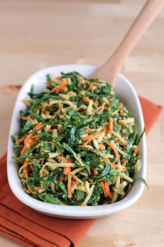 Use collard greens, parsnips and carrots to make this fresh coleslaw.