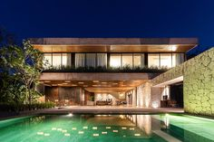 Al Green, Tulum, Merida Mexico, Two Storey House, Water Pond, Canopy Lights, Architectural Section, Architecture Office, Garden Pool