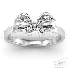 Fancy Stone Set Bow Ring