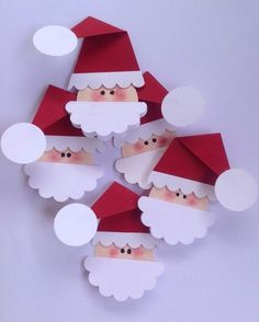 Santa Claus gift tags Santa gift tags Santa tags Crafts for kids Christmas Crafts For Kids To Make, Xmas Crafts, Kids Christmas, Paper Crafts, Diy Crafts, Etsy Christmas, Christmas Gift Tags, Christmas Ornaments, Paper Christmas Decorations