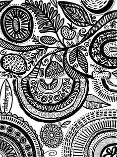 susan black design Susan Black, Black Art, Black And White, Stamp Printing, Doodles Zentangles, Sketchbook Inspiration, Art Google, Inspire Me, Coloring Pages