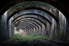 Connaught Rail tunnel part of the North London Line from Stratford... line closed 2006