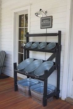 Backyard Parties - drink and snack bins! CUTE and convenient