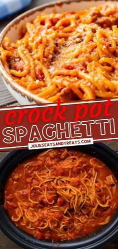 This recipe lets you make a favorite family dinner in the slow cooker! Crock Pot Spaghetti has tons of flavor from spicy Italian sausage in a creamy sauce. Not only is this delicious meal quick and easy for weeknights, but it is also a great way to feed a crowd! Best Crockpot Recipes, Hamburger Recipes, Great Recipes, Dinner Recipes, Yummy Recipes, Spaghetti Casserole, Crock Pot Spaghetti, Italian Sausage Spaghetti, Feeding A Crowd