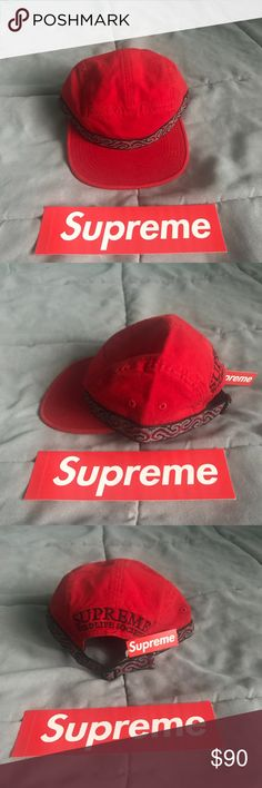 Supreme wildlife hat Limited edition supreme hat. Sold out item on the supreme website in the classic rare, supreme red color. Brand new with tags Supreme Accessories Hats