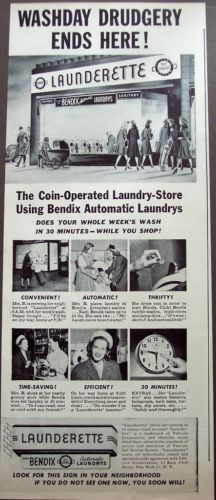 1946-Bendix-Automatic-coin-operated-Laundrys-vintage-ad