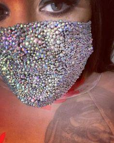 Rhinestone Crafts, Crystal Rhinestone, Diy Mask, Diy Face Mask, Face Masks, Tapas, Pirate Eye Patches, Glitter Face, Custom Eyes