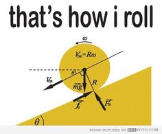 That's how I roll - with physics equations.