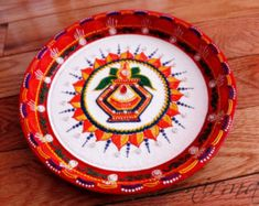 Kalash Pooja Thali-Decorative Henna Mehndi Design by Nirman Arti Thali Decoration, Kalash Decoration, Ganapati Decoration, Rangoli Designs, Mehndi Designs, Ganesha Rangoli, Ganesh Pooja, Diy Diwali Decorations, Henna Cones