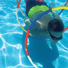 Pool-Game-Hoops-x3-Underwater-Swimming-Course-Dolphin-Slalom-Party-Aquafun