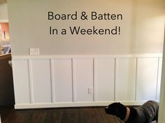 How to create a board and batten focal wall in your home! Great tutorial!