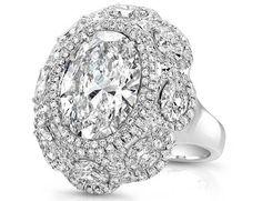 Rahaminov oval diamond halo cocktail ring
