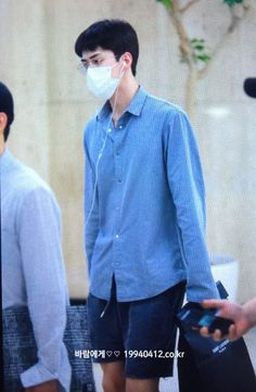Sehun - 160816 Gimpo Airport, arrival from Tokyo Credit: 바람에게. (김포공항 출국)