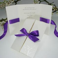 Perfect ♥ Verona Purple Wedding Invitation - Olivia Samuel