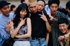 Asian models posing after KENZO show
