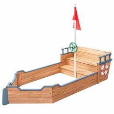 Wooden sandbox with benches kids pirate wooden boat sandbox with bench and flag pallet sandbox with . Pallet Sandbox, Wooden Sandbox, Kids Sandbox, Sandbox Ideas, Sandbox Diy, Pallet Patio, Wooden Boat Building, Wooden Boat Plans, Boat Building Plans