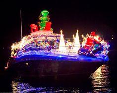 Venice Christmas Boat Parade of Lights Christmas Light Displays, Christmas Lights, Christmas Decorations, Venice Beach House, Boat Parade, Venice Florida, Christmas Car, Tropical Christmas, Beautiful Christmas