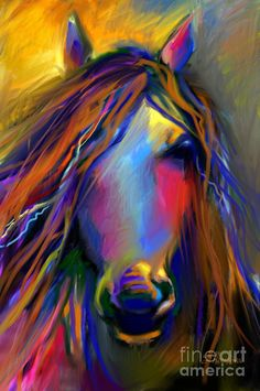 Mustang horse painting by ©Svetlana Novikova (via FineArtAmerica). This wouls b awesome as a tattoe