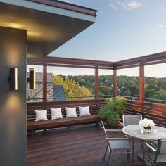 Brookline roof deck. The photographer is Nat Rea.
