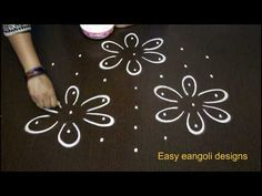 simple bird rangoli designs with 7x4 dots, beautiful kolam designs, small muggulu designs with dots - YouTube