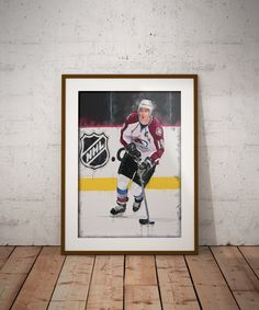 49743399153 Joe Sakic - Colorado Avalanche - Super Joe Sakic - NHL Art - Stanley Cup -  NHL - Avalanche - Sports art - Wall decor