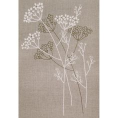 """Needle Arts > Crewel Kits > 18""""X24"""" Stitched In Thread - Floral Silhouette Candlewicking Kit: A Cherry On Top"""