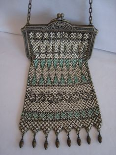 Art Deco 20s mandalian mesh purse