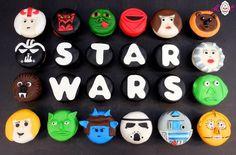 Star Wars Cupcakes Star Wars Party, Star Wars Birthday Cake, Boy Birthday, Birthday Ideas, Birthday Parties, Star Wars Cupcakes, Star Wars Cake, Birthday Desserts, Birthday Cakes