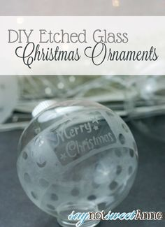 Etched/Frosted glass ornaments