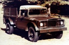 There's no cooler '60s pickup truck than the Kaiser M715. Developed as a ton-and-a-quarter-capacity military truck, the 715 was based on the civilian Jeep Gladiator pickup but upgraded with beefy Dana 60 and 70 axles, ultra-low 5.87:1 gears, and a tough and low-geared Warner T-98 four-speed manual. These trucks could crawl a trail like, well, a Jeep, and hit 55 mph on the highway thanks to the 231-cid overhead cam inline six.
