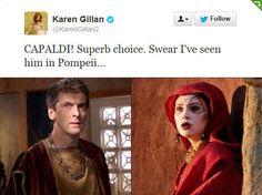 Karen Gillan tweets about Capaldi