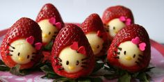 Ten Recipes for Hello Kitty Party Foods Your Little Kitty Fan Will Love Strawberry Snacks, Strawberry Delight, Strawberry Ideas, Kitty Party, Top 10 Desserts, Hello Kitty Themes, Kawaii Crafts, Pasta Shapes, Little Kitty