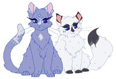 blue n snow by selfish-machines on DeviantArt Warrior Cat Drawings, Warrior Drawing, Warrior Cats Art, Warrior Cat Memes, Warrior Cats Series, Animal Drawings, Cool Drawings, Chibi, Cat Oc