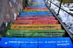 Kolorowe schody - Tatrzańska