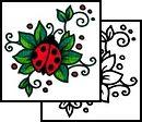 ladybug Tattoo Design (AAF-08685)