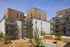 Green Cascade Housing, Atelier de la Passerelle, social housing, lyon, france, eco apartments, green housing
