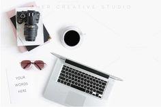 Laptop & Camera Styled Stock Desktop
