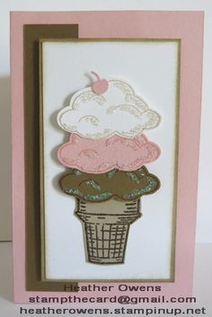 Ice cream cone card using the new Sprinkles of Life stamp set and Tree Builder punch from Stampin' Up!