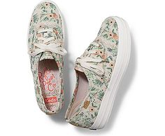 KEDS X RIFLE PAPER TRIPLE WILDFLOWER, Natural Multi