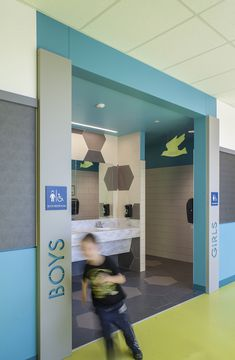 Gallery of Lake Wilderness Elementary School / TCF Architecture - 17 - Education Design School Office Design, Elementary School Office, Primary School, Elementary Schools, Education Architecture, School Architecture, Architecture Design, School Bathroom, Restroom Design