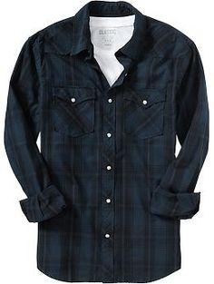 Men's Plaid Western Shirts | Old Navy